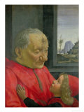 An Old Man and a Boy, 1480s Giclée-tryk af Domenico Ghirlandaio