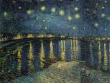 Stjärnnatt över Rhône, 1888 Gicléetryck av Vincent van Gogh