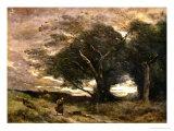 Gust of Wind, 1866 Reproduction procédé giclée par Jean-Baptiste-Camille Corot