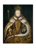 Queen Elizabeth I in Coronation Robes, circa 1559 Giclee-trykk