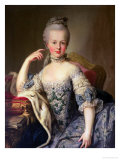 Archduchess Marie Antoinette Habsburg-Lotharingen (1755-93) Lámina giclée por Martin van Meytens