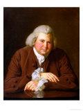 Portrait of Dr Erasmus Darwin (1731-1802) Scientist, Inventor, Poet, Grandfather of Charles Darwin Giclee Print by Joseph Wright of Derby