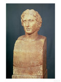 Portrait Bust of Alexander the Great (356-323 BC) Known as the Azara Herm, Greek Replica Giclée-tryk af  Lysippos