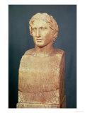 Portrait Bust of Alexander the Great (356-323 BC) Known as the Azara Herm, Greek Replica Lámina giclée por  Lysippos