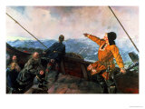 Leif Eriksson (10th Century) Sights Land in America, 1893 Giclee Print by Christian Krohg