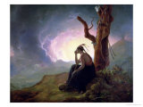 Widow of an Indian Chief, 1785 Giclee Print by Joseph Wright of Derby
