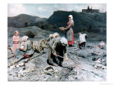 Poor People Gathering Coal at an Exhausted Mine, 1894 Giclee Print by Nikolaj Alekseevich Kasatkin