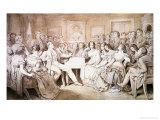 An Evening at Baron Von Spaun's: Schubert at the Piano Among His Friends Giclée-tryk af Moritz Ludwig von Schwind