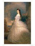 Elizabeth of Bavaria (1837-98), Empress of Austria, Wife of Emperor Franz Joseph (1830-1916) Giclée-tryk af Franz Xaver Winterhalter