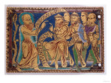 Plaque Depicting St. Paul Disputing with Greeks and Jews, Mid 12th Century Giclée-tryk