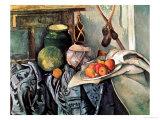 Still Life with Pitcher and Aubergines Giclée-Druck von Paul Cézanne