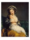 Self Portrait in a Turban with Her Child, 1786 Giclée-Druck von Elisabeth Louise Vigee-LeBrun