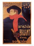 Ambassadeurs: Aristide Bruant, 1892 Lámina giclée por Henri de Toulouse-Lautrec