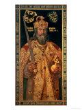 Charlemagne, Charles the Great (747-814) King of the Franks, Emperor of the West Reproduction procédé giclée par Albrecht Dürer
