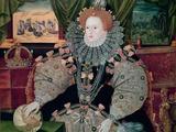 Elizabeth I, Armada Portrait, circa 1588 Giclée-tryk af George Gower