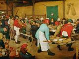 Peasant Wedding (Bauernhochzeit), 1568 Gicléetryck av Pieter Bruegel the Elder