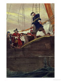 Walking the Plank, Engraved by Anderson Impressão giclée por Howard Pyle
