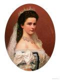 Empress Elizabeth of Bavaria (1837-98) in Hungarian Costume, 1867 Giclee Print by Georg Raab