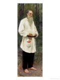Portrait of Lev Tolstoy (1828-1910) 1901 Giclee Print by Ilya Efimovich Repin