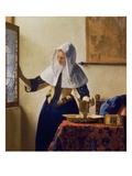 窓辺で水差しを持つ女 1662年 ジクレープリント : ヨハネス・フェルメール