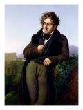 Portrait of Francois Rene (1768-1848) Vicomte De Chateaubriand, 1811 Giclée-tryk af Anne-Louis Girodet de Roussy-Trioson