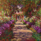 A Pathway in Monet's Garden, Giverny, 1902 Giclée-tryk af Claude Monet