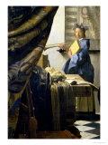 The Painter in His Studio, 1665-6 Giclée-Druck von Johannes Vermeer