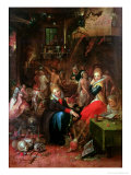 The Witches' Sabbath, 1606 Giclée-tryk af Frans Francken the Younger