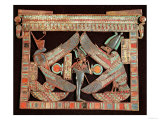 Breast Plate of Osiris, God of the Afterworld, from the Tomb of Tutankhamun, in the Valley of The Lámina giclée