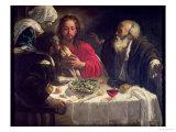 The Supper at Emmaus, circa 1614-21 Giclée-tryk af  Caravaggio