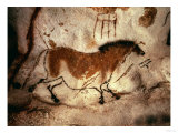 Rock Painting of a Horse, circa 17000 BC Giclée-tryk