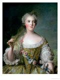 Portrait of Madame Sophie (1734-82), Daughter of Louis XV, at Fontevrault, 1748 Lámina giclée por Jean-Marc Nattier