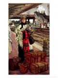 Waiting at the Station, Willesden Junction, circa 1874 Stampa giclée di James Tissot