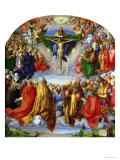 The Landauer Altarpiece, All Saints Day, 1511 Giclée-tryk af Albrecht Dürer