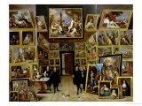 Archduke Leopold Wilhelm (1614-61) in His Picture Gallery, circa 1647 Giclée-Druck von David Teniers the Younger