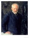Portrait of Piotr Ilyich Tchaikovsky (1840-93), Russian Composer, 1893 Giclee-trykk av Nikolai Dmitrievich Kuznetsov