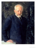 Portrait of Piotr Ilyich Tchaikovsky (1840-93), Russian Composer, 1893 Giclée-Druck von Nikolai Dmitrievich Kuznetsov