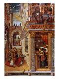 The Annunciation with St. Emidius, 1486 Giclée-tryk af Carlo Crivelli