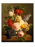 Still Life with Flowers and Fruit, 1827 Giclée-Druck von Jan Frans van Dael