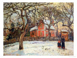 Chestnut Trees at Louveciennes, circa 1871-2 Giclee Print by Camille Pissarro