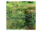 The Waterlily Pond, 1904 Giclée-tryk af Claude Monet