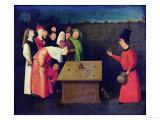 The Conjuror (Pre-Restoration) Giclée-tryk af Hieronymus Bosch