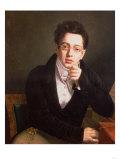 Portrait of Franz Schubert (1797-1828), Austrian Composer, Aged 17, circa 1814 Giclée-tryk