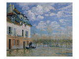 The Boat in the Flood, Port-Marly, 1876 Giclee Print by Alfred Sisley