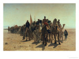Pilgrims Going to Mecca, 1861 Giclée-tryk af Leon-Auguste-Adolphe Belly