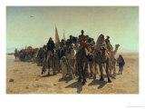 Pilgrims Going to Mecca, 1861 Gicléedruk van Leon-Auguste-Adolphe Belly