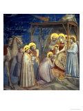 Adoration of the Magi, circa 1305 Giclée-tryk af  Giotto di Bondone