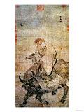 Lao-Tzu (circa 604-531 BC) Riding His Ox, Chinese, Ming Dynasty (1368-1644) Giclée-tryk