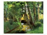 The Little Bridge, Pontoise, 1875 Reproduction procédé giclée par Camille Pissarro