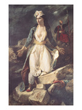 Greece Expiring on the Ruins of Missolonghi, 1826 Giclee Print by Eugene Delacroix